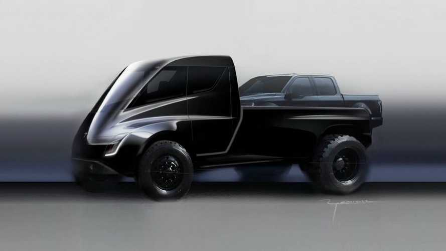 Tesla Pickup Truck Shown During Semi Reveal