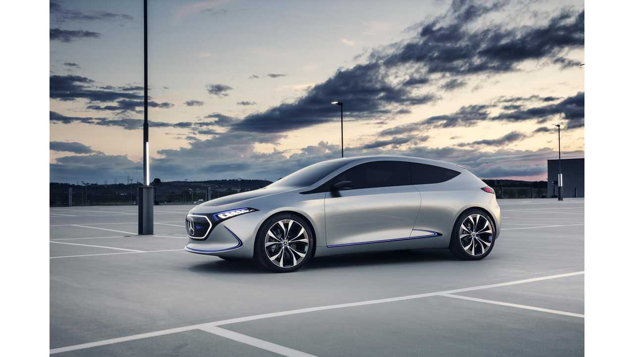Mercedes-Benz EQA Electric Car Goes