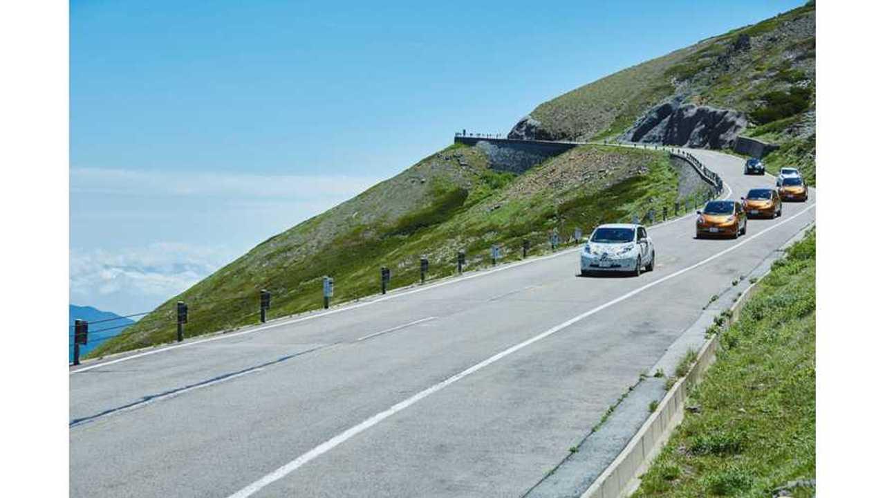 Nissan Sends 6 LEAFs To Hill Climb At Japan EV Rally 2016