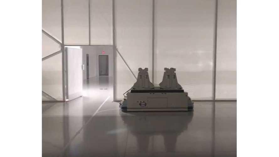 Tesla Gigafactory Robot Moves To Indiana Jones Theme Song - Video