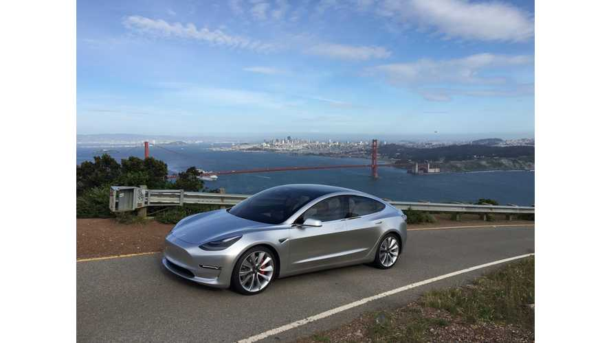 Silver Tesla Model 3 Spotted Twice In Public