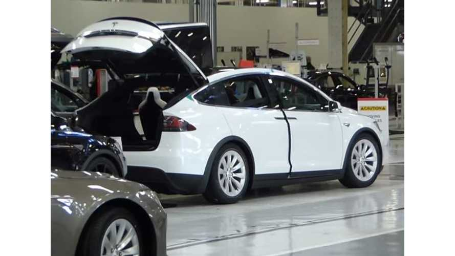 Video Of Tesla Model X Assembly Inside Fremont Factory