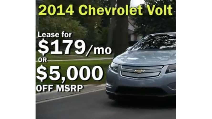 Lease a 2014 Chevy Volt For $179 Per Month - Video