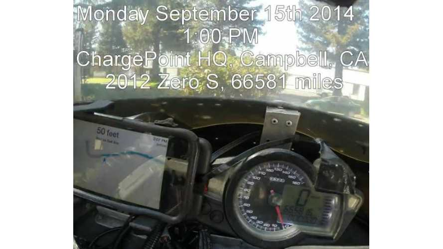 On-Board Time-Lapse Video - Electric Motorcycle Covers 1,047 Miles In Under 23 Hours
