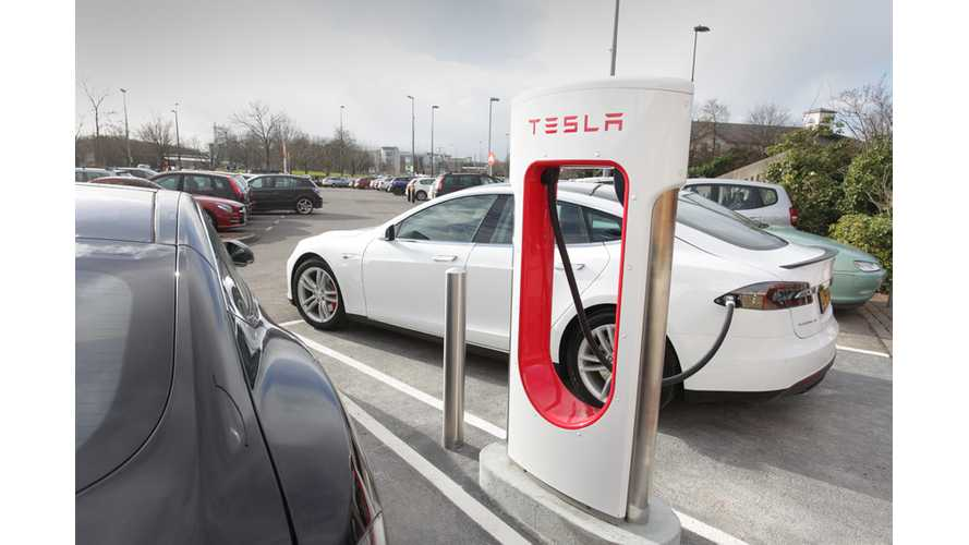 Tesla Opens Its 20th Supercharger Station In The UK