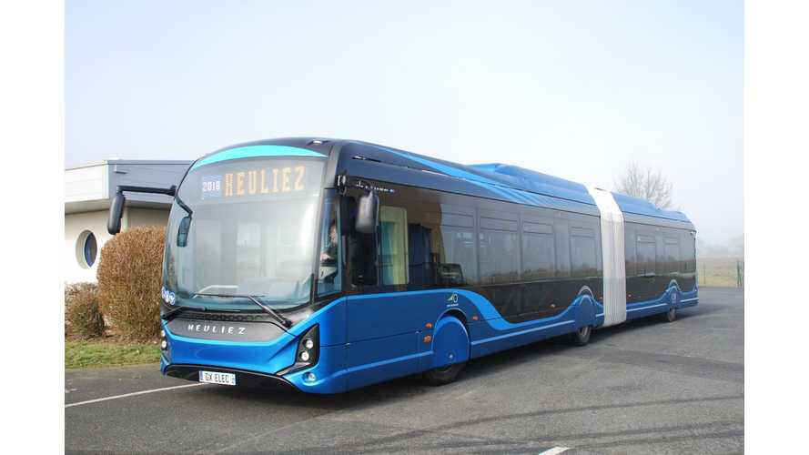 Heuliez Receives Order For 49 GX437 Articulated Electric Buses