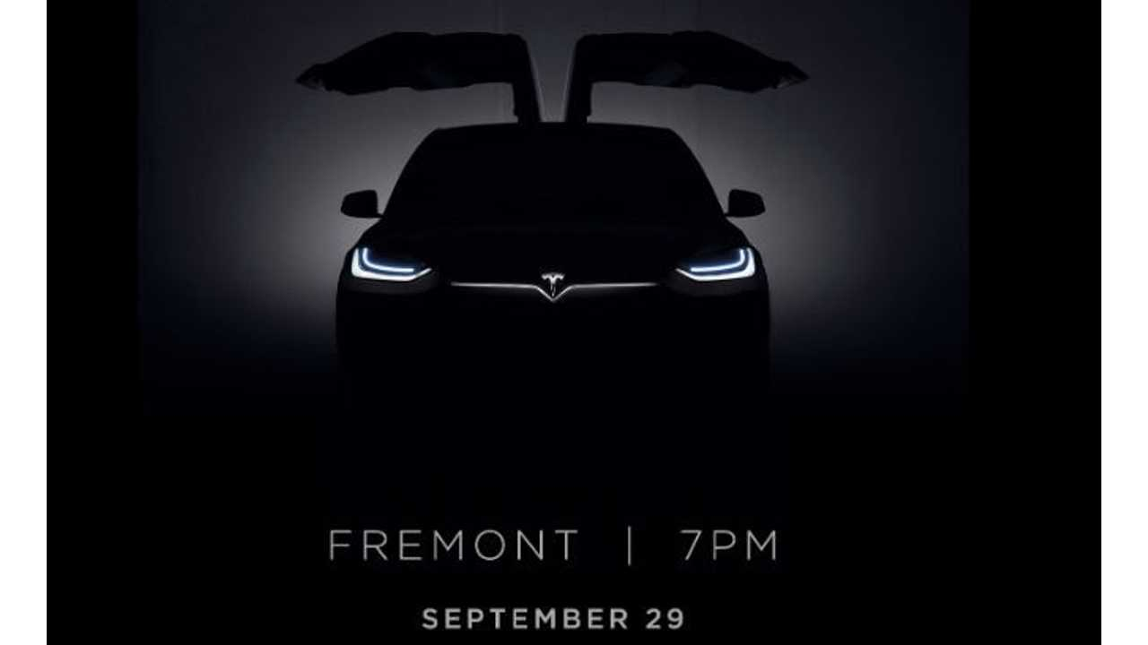 Tesla Sends Out Invites For Model X Launch On September 29 - Tesla To Livestream Event