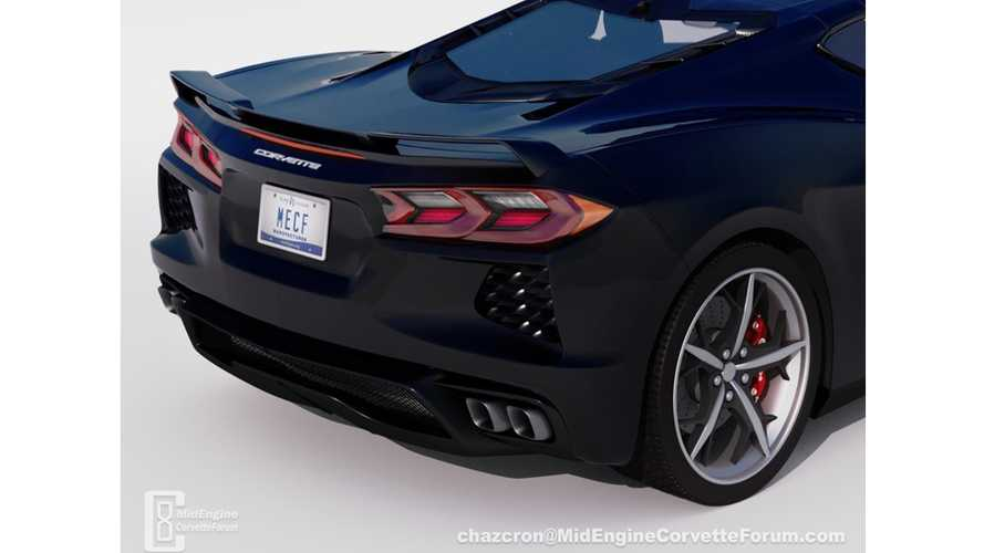 New mid-engined Corvette render reveals the supercar's backside