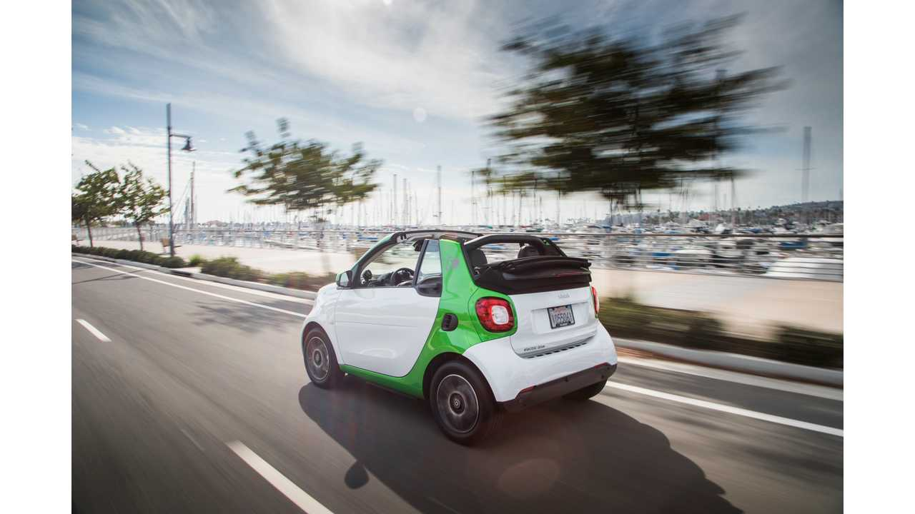 The 2018 Smart Fortwo Electric Drive Cabrio Really Shines With Top Down In Sunny Southern
