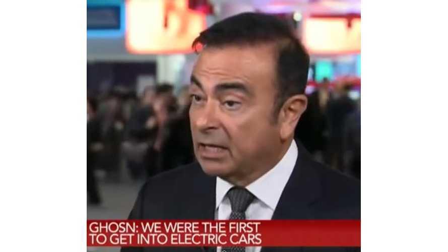 Carlos Ghosn On Electric Car Range, Price & More - Video