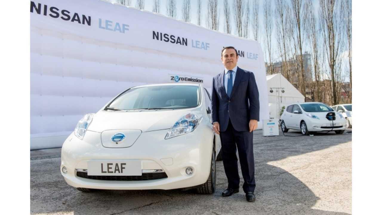 Nissan CEO Sets U.S. LEAF Sales Target At 50,000 Annually