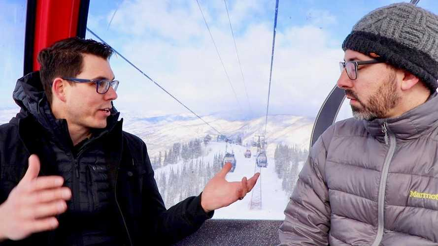 Rivian CEO Has In-Depth R1T & R1S EV Chat In Gondola: Video