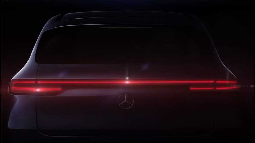 Mercedes Teases Rear Of EQC Electric Crossover