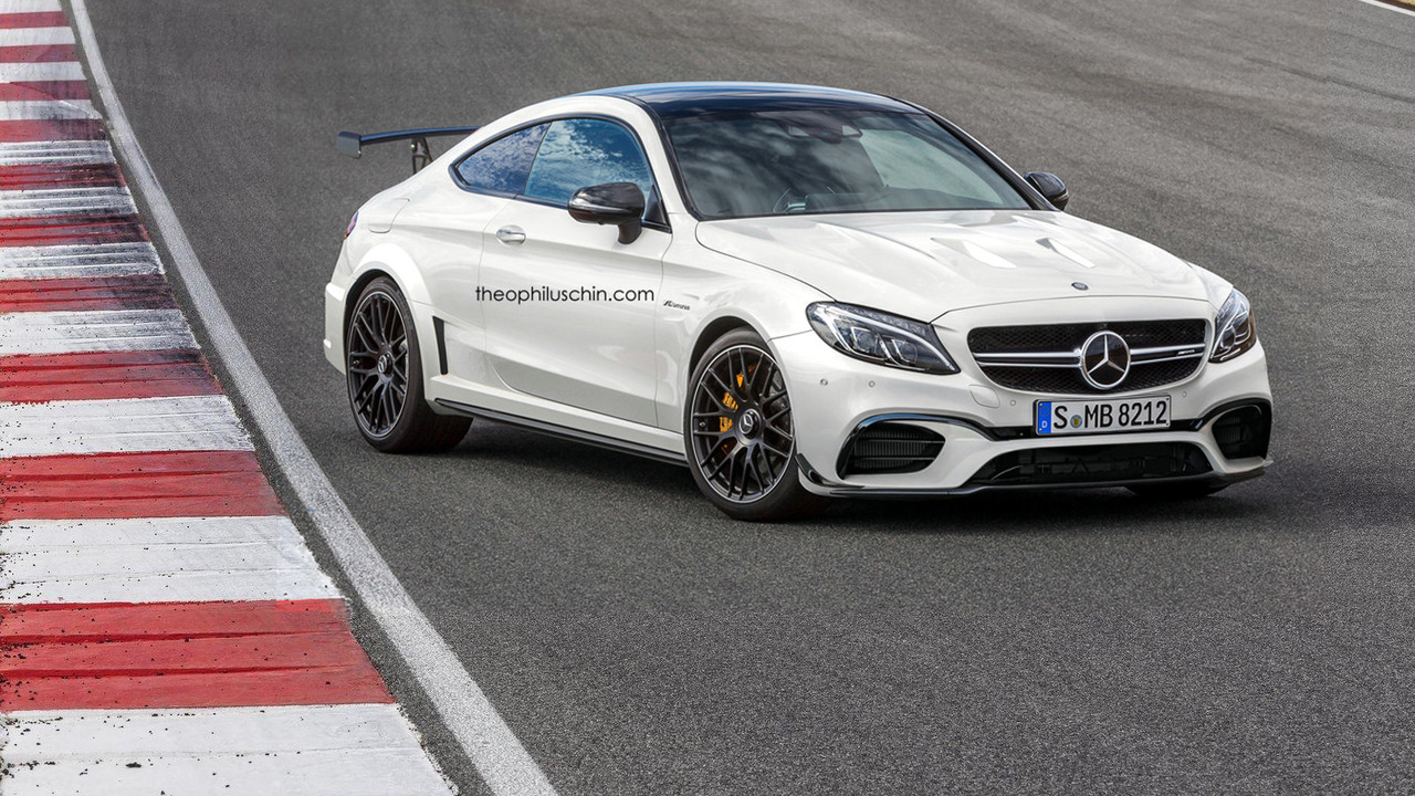 Mercedes-AMG C63 Coupe Black Series render