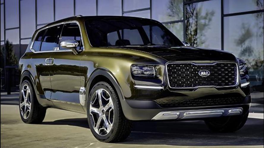 Kia Telluride Concept, prove di maxi SUV