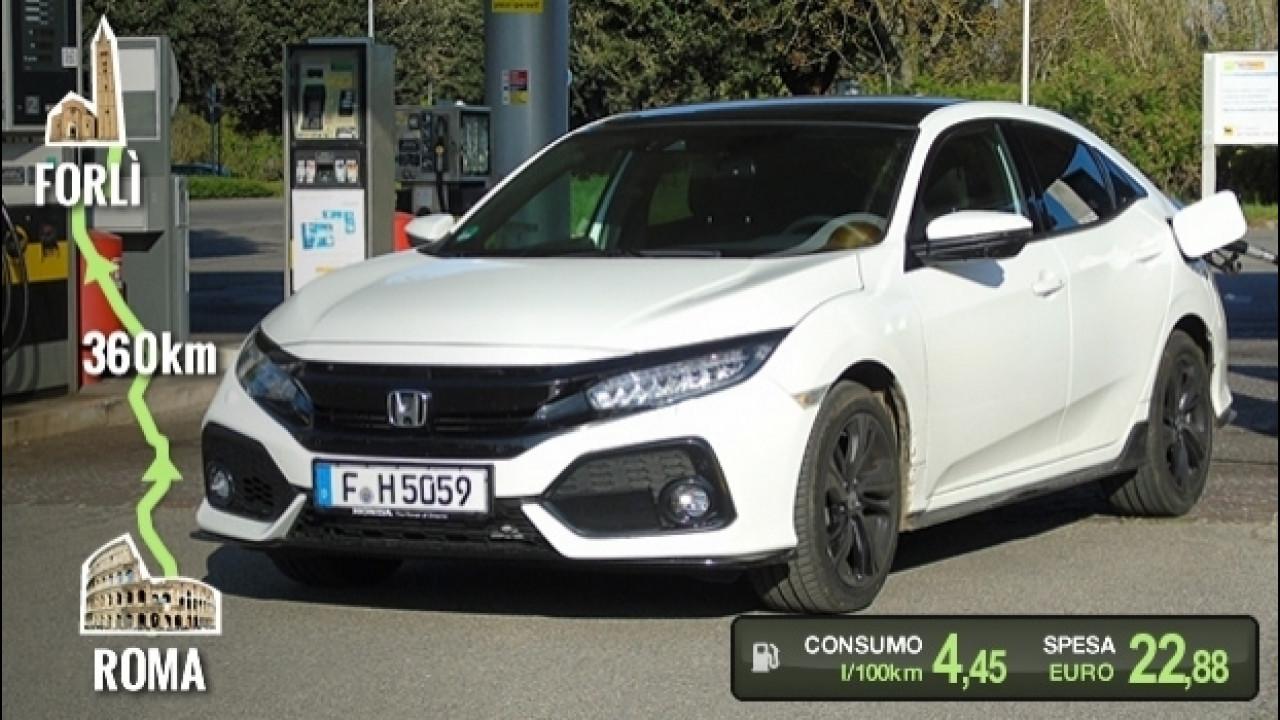 [Copertina] - Honda Civic 1.5, la prova dei consumi reali