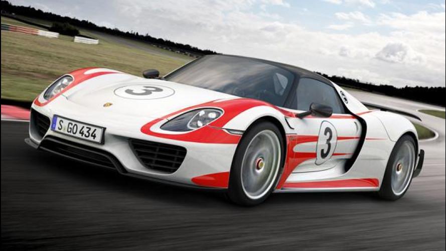 Porsche 918 Spyder Weissach package, da 0 a 100 km/h in 2,6 secondi