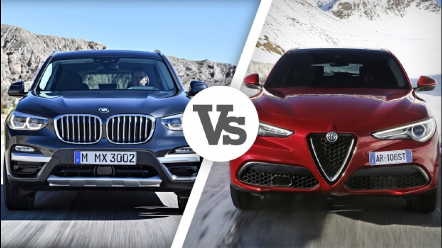 BMW X3 Vs Alfa Romeo Stelvio, i numeri del confronto