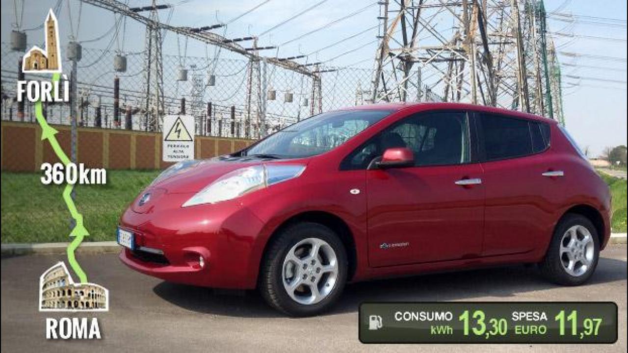 [Copertina] - Nissan Leaf, la prova dei consumi reali
