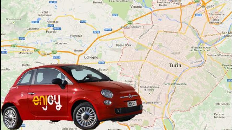 Car sharing, anche a Torino si va con le Fiat 500 di enjoy