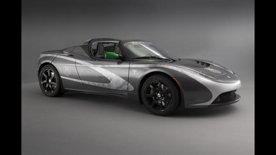La Tesla Roadster TAG Heuer farà il giro del mondo