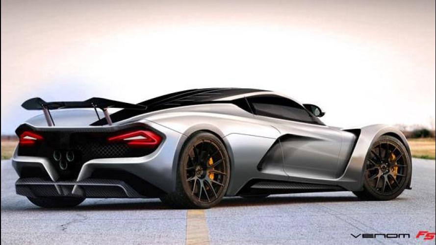 Hennessey Venom F5, un mostro di oltre 1.420 CV