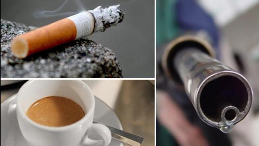 Caffè, sigarette o benzina: cosa è più giusto tassare?