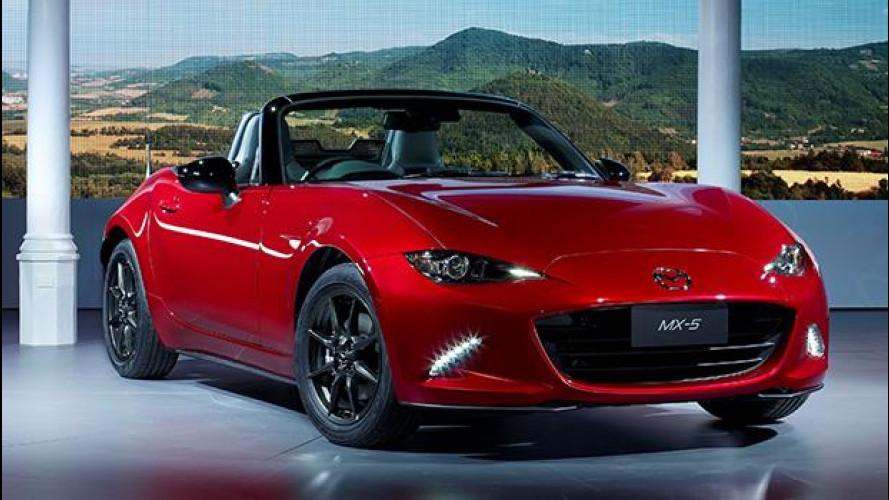 Nuova Mazda MX-5, com'è vista dal vivo a Barcellona