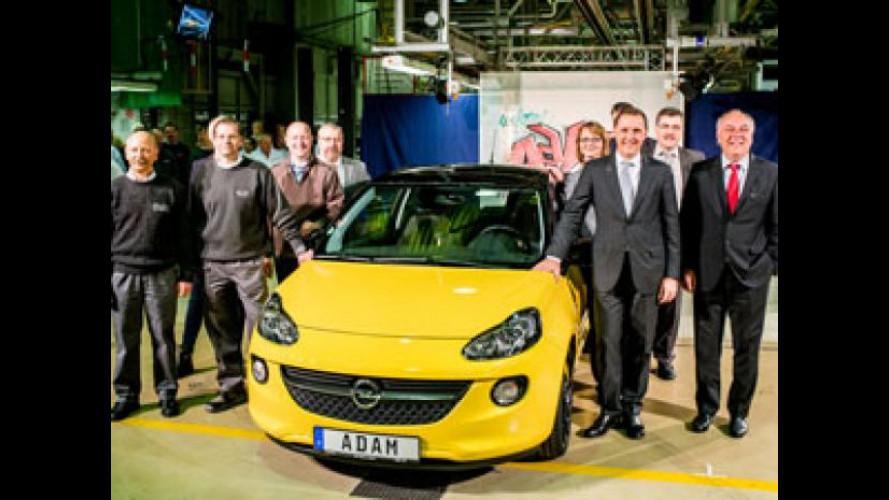 Opel Adam, avviata la produzione in Germania