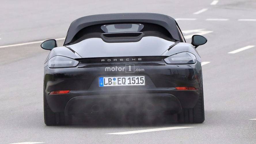 Porsche 718 Boxster Spyder Spy Photos