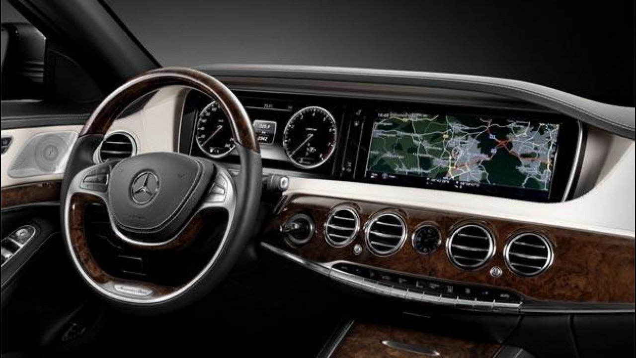 [Copertina] - Nuova Mercedes Classe S, la strumentazione tablet a doppio schermo