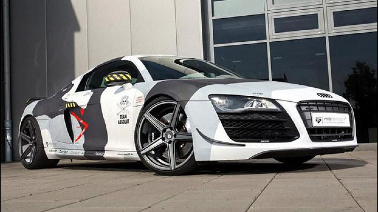 [Copertina] - Audi R8, mimetica al carbonio