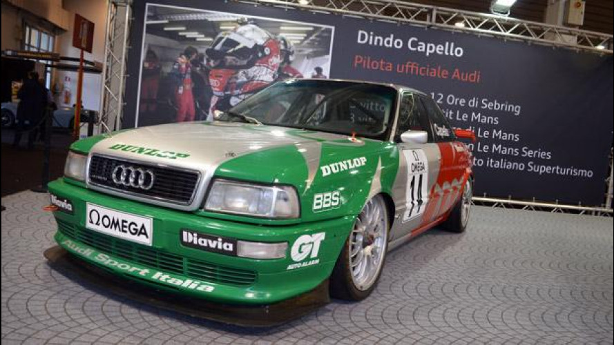 Audi ad Auto e Moto d'Epoca con Dindo Capello e la R18 TDI Le Mans