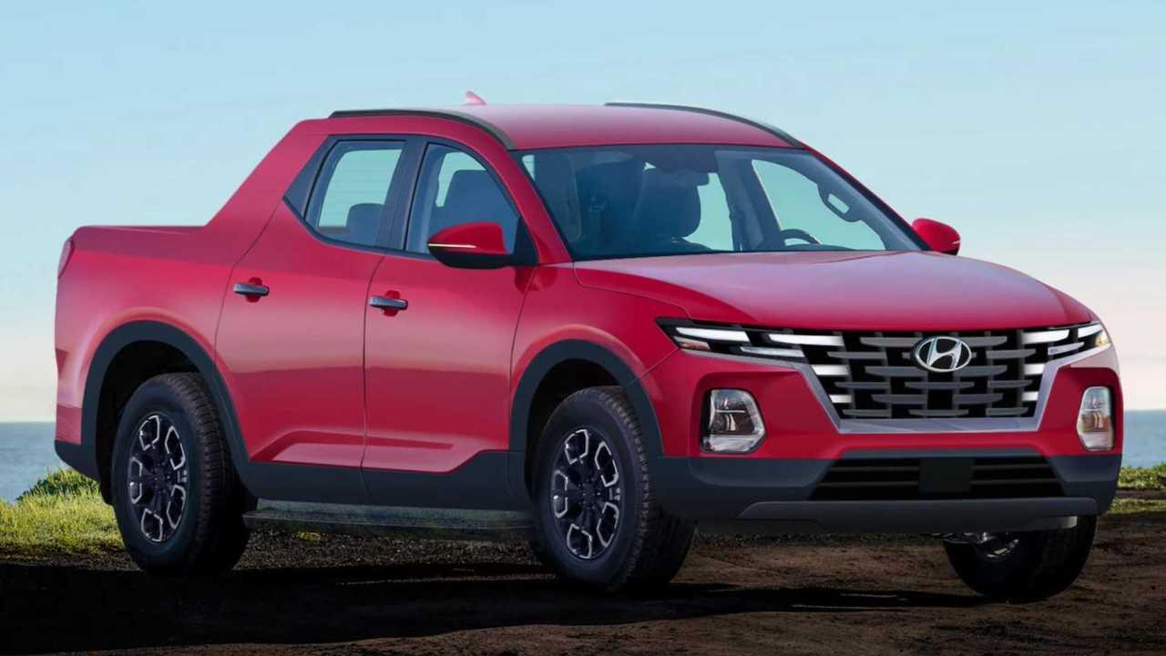 Hyundai Santa Cruz Pickup Truck Rendering