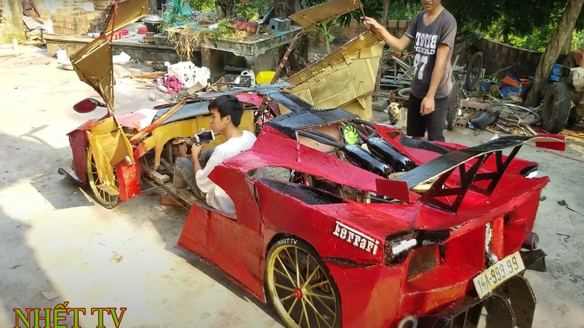 Drivable Cardboard Supercars From Vietnam
