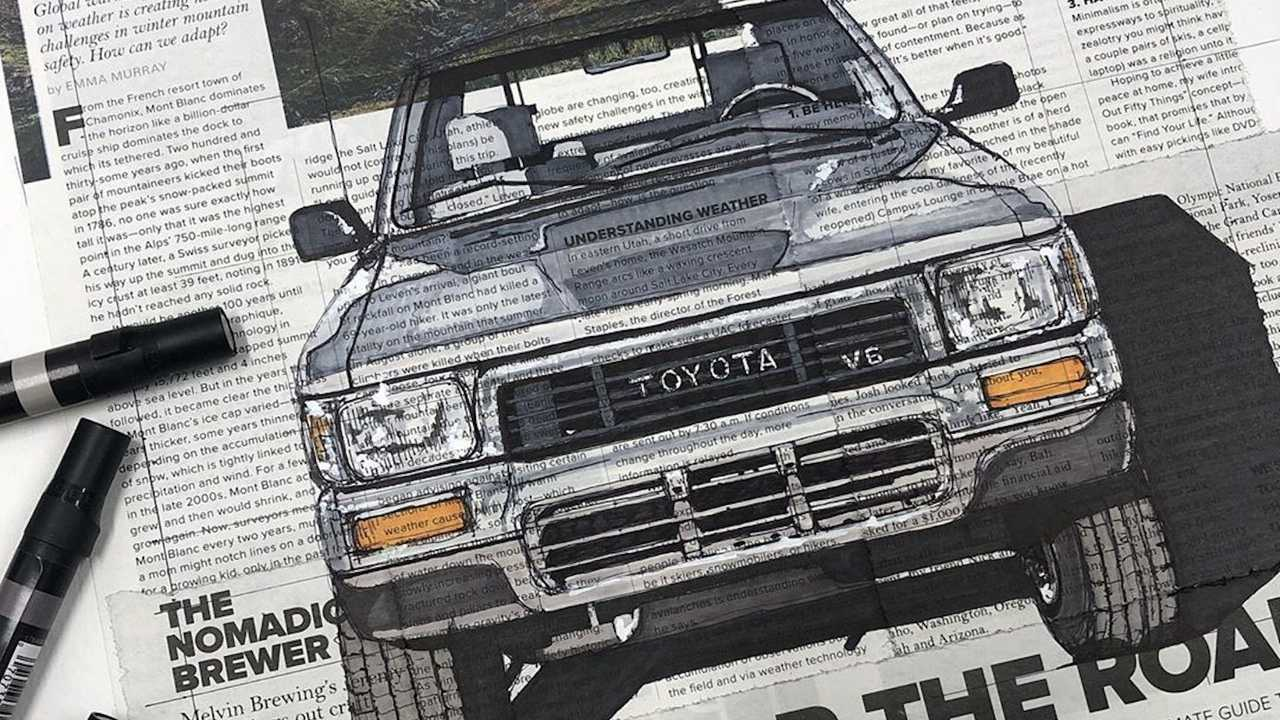 Automotive Portraits On Newspapers By Adam Ambro