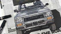 Dieser Künstler malt Auto-Portraits auf Zeitungen und es ist brillant