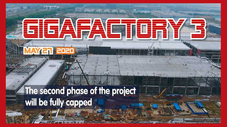 Tesla Giga Shanghai Construction Progress May 27, 2020: Video