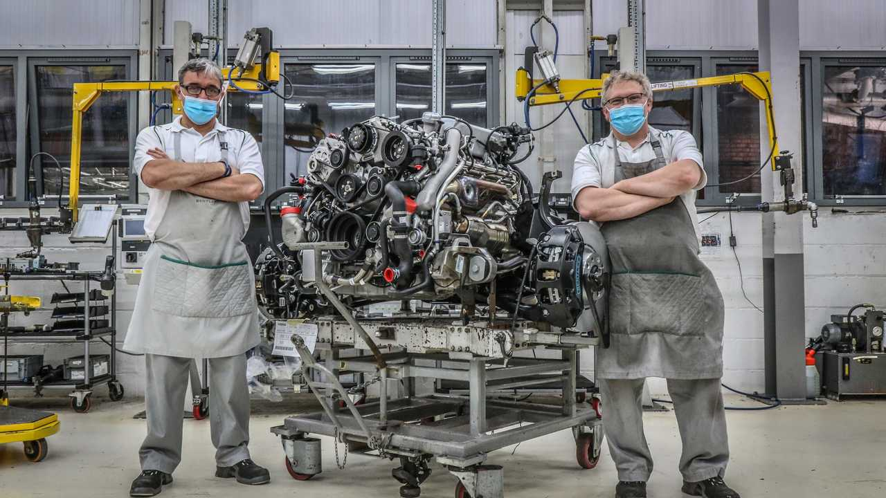 Bentley's final6¾-litre V8 engine