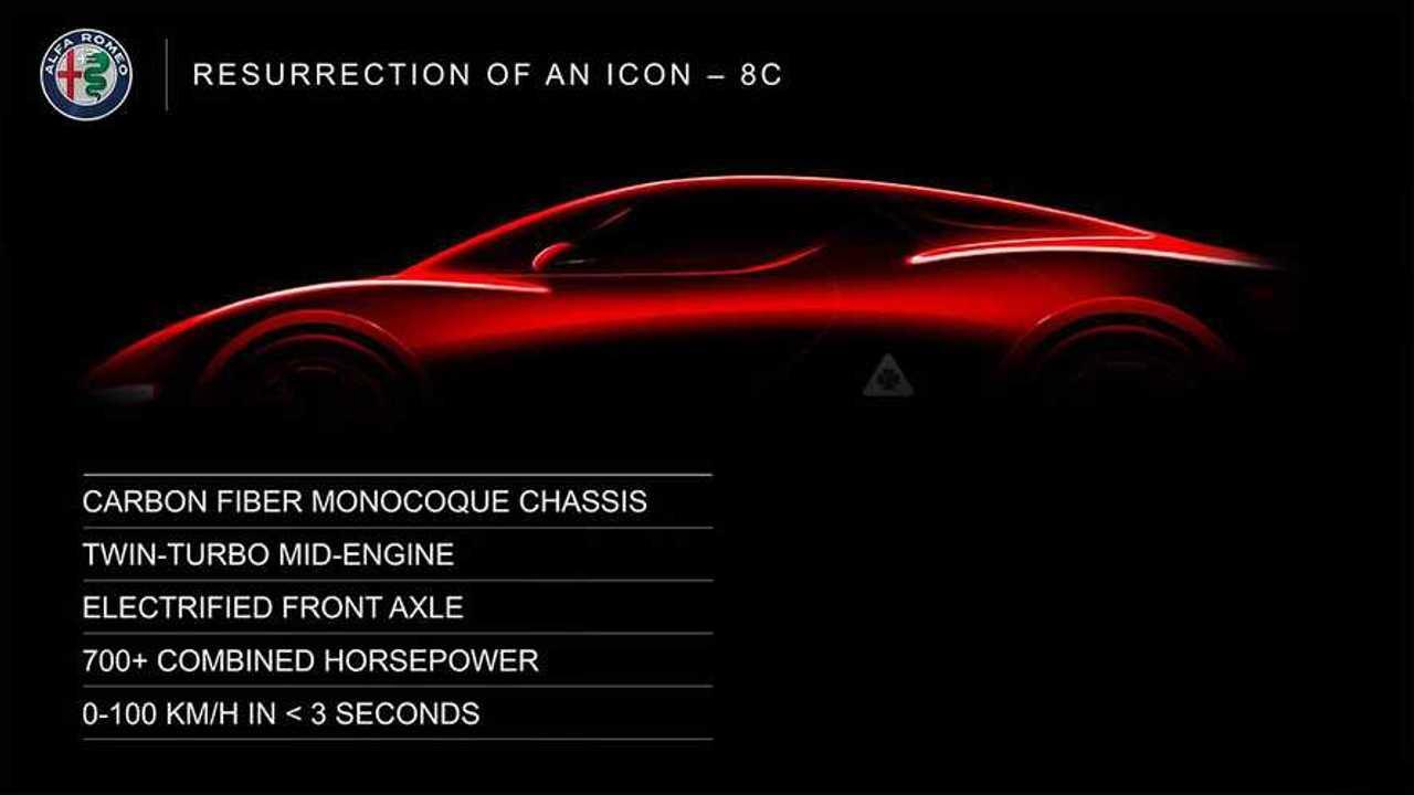 Alfa Romeo выпустит среднемоторный супергибрид 8C