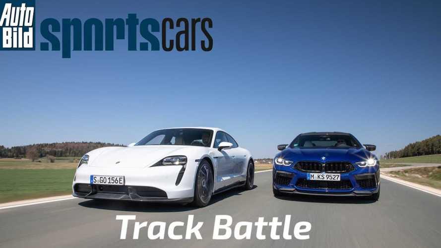 BMW M8 Gran Coupé vs Porsche Taycan Turbo S – melyikük gyorsabb a pályán?