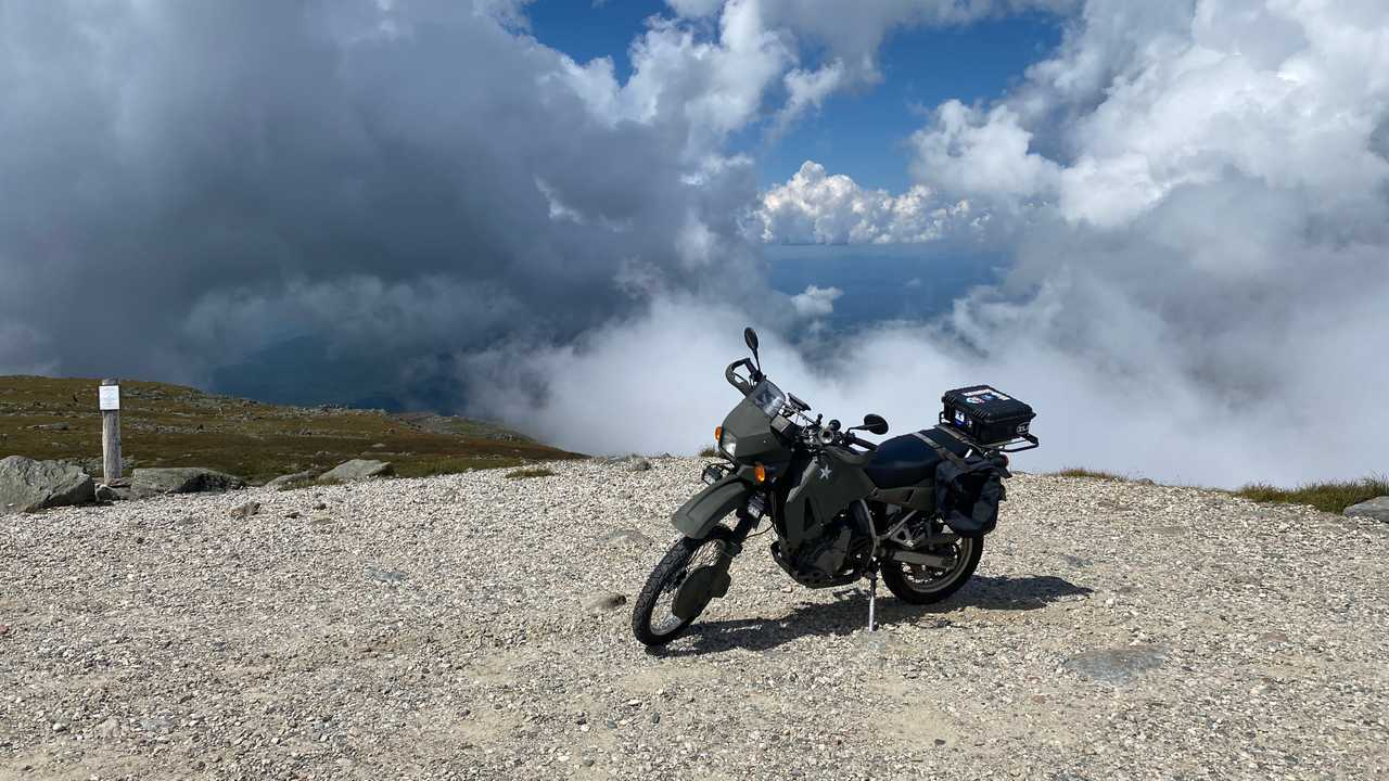 Kawasaki KLR 650 on Mount Washington