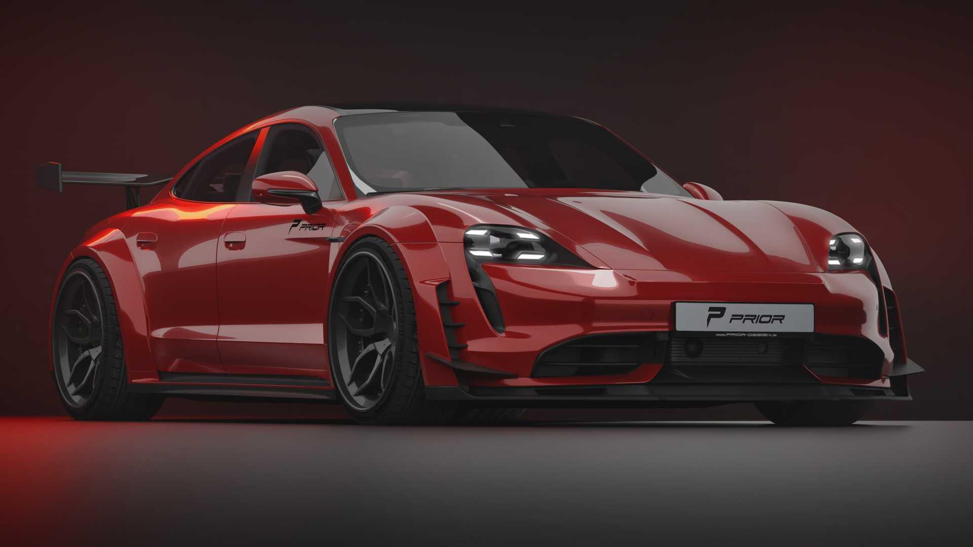 Porsche Taycan Gets Wild Widebody Kit From Prior Design