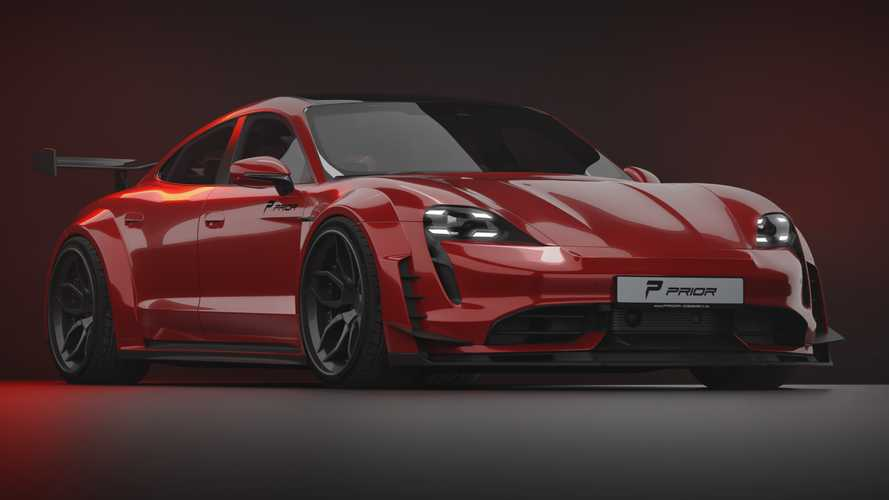 Porsche Taycan Gets Wild Widebody Kit From Prior Design