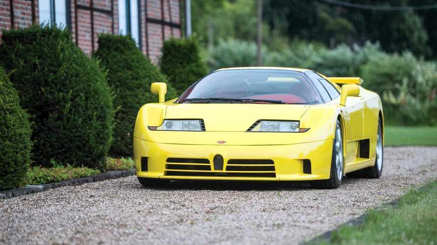 A la venta el único Bugatti EB110 SS amarillo con el interior rojo