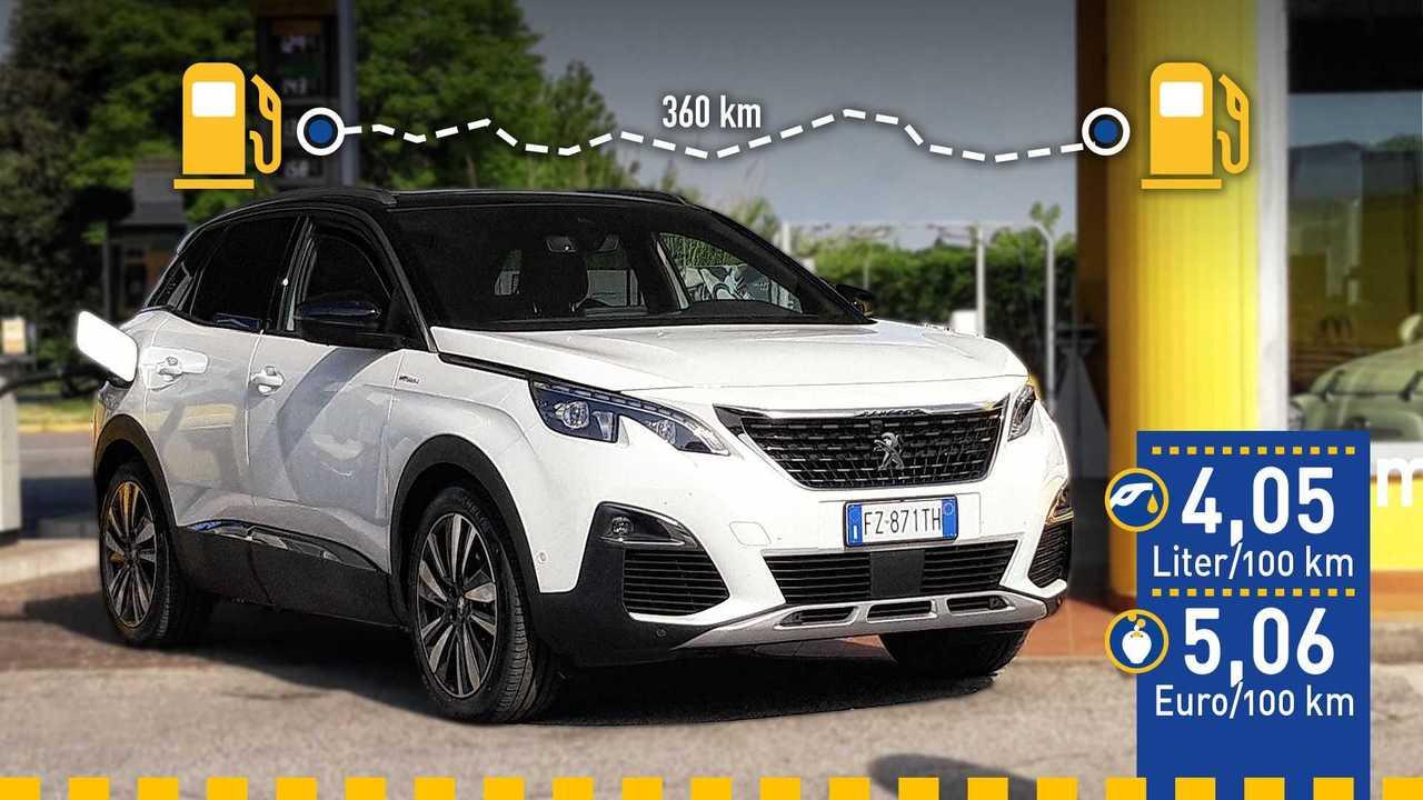 Peugeot 3008 Hybrid4 (2020) im Verbrauchstest