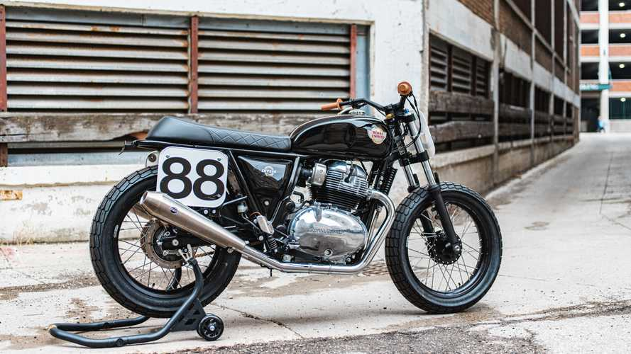 Lana MacNaughton's Build Train Race Royal Enfield INT 650