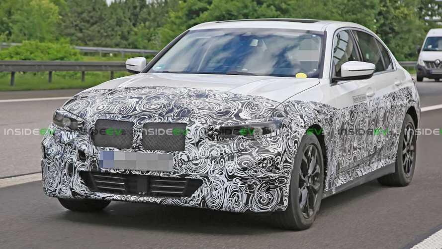 BMW Serie 3 elettrica - foto spia