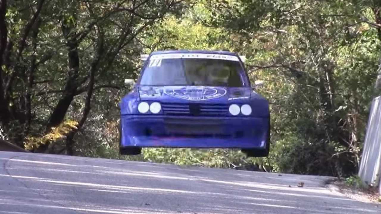 Watch this bonkers custom-build Peugeot 205 RS16 fly