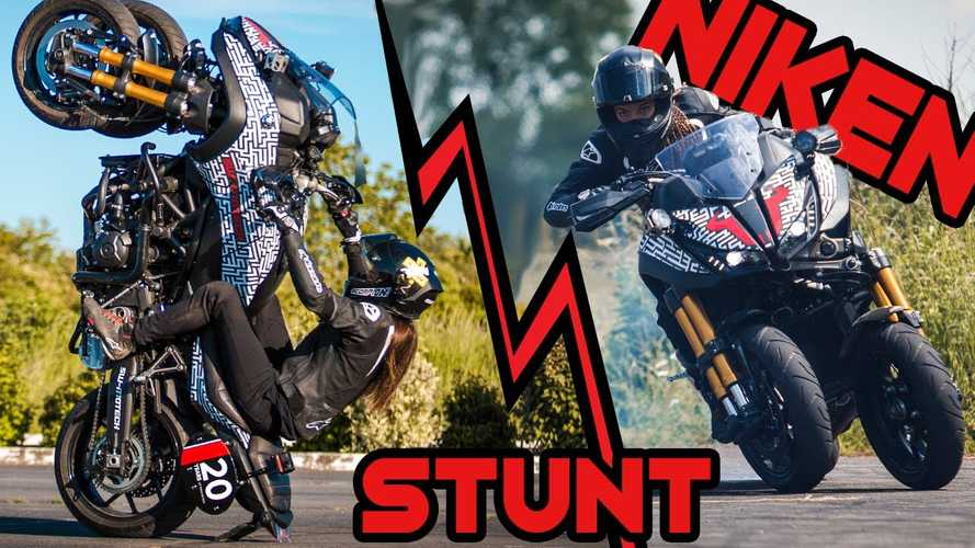 Watch French Stunt Rider Make Yamaha Niken Wheelies Look Easy